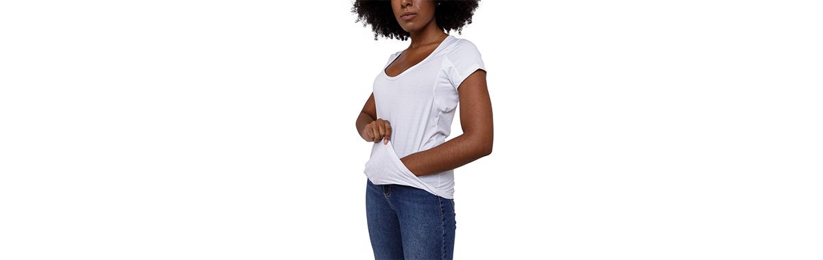 Camisa invisível feminina