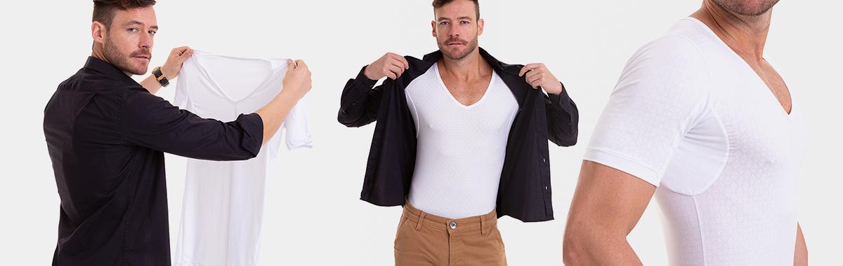 Camiseta branca confortável masculina