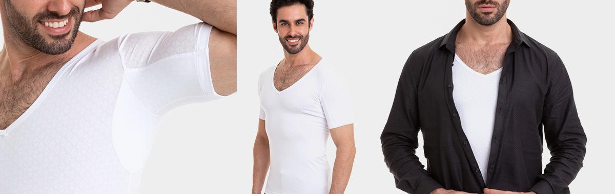 Camiseta branca gola V