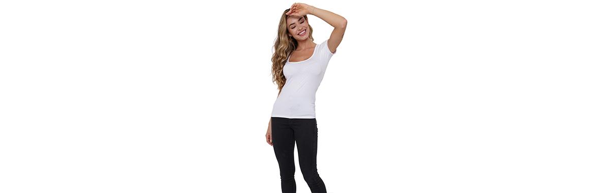 Camiseta confortável para malhar feminina
