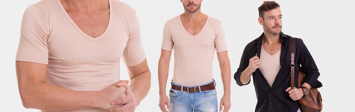Camiseta para usar por Baixo da Camisa