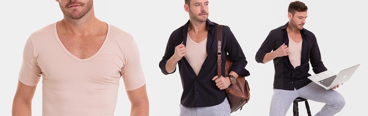 Camiseta slim confortável masculina