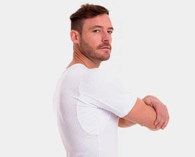 Camiseta alto desempenho gola simples masculina