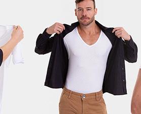 Camiseta básica branca gola simples